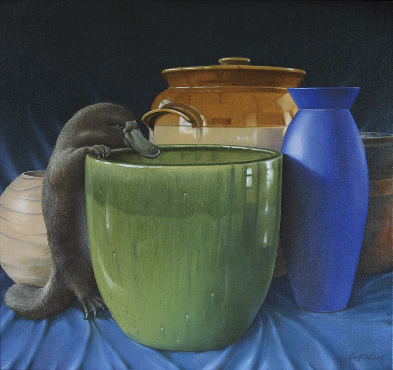 Still Life Eith Platypus - 2009 Oils on Linen
